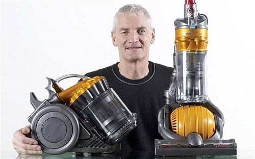 Sir Dyson and his vacuums