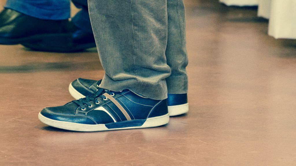 shoes on engineered flooring