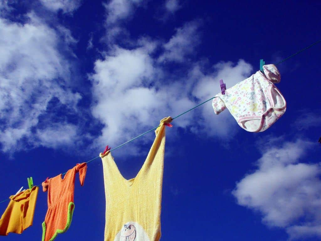 hang dry clothing save money