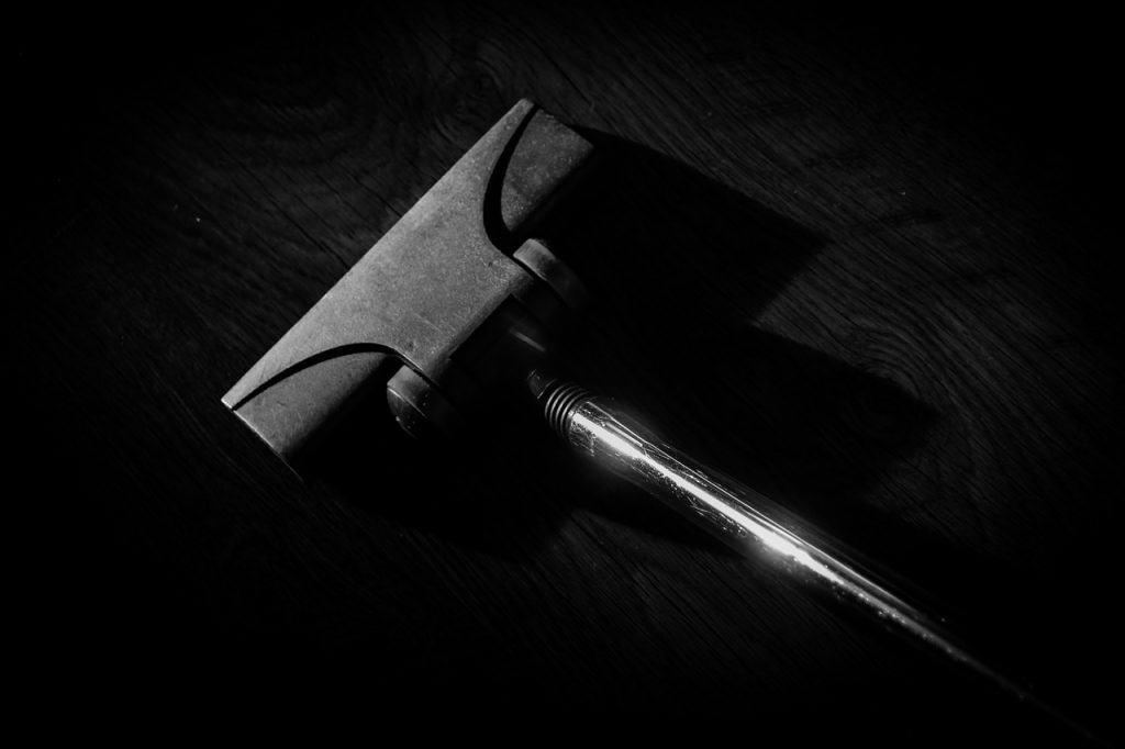 stick vacuum black and white