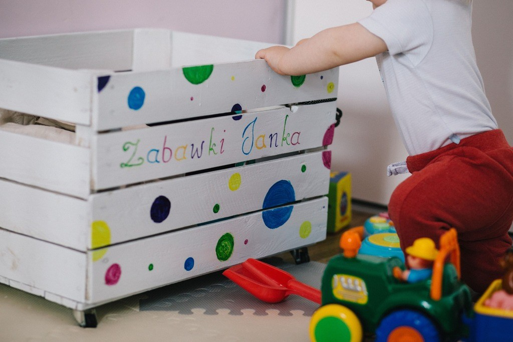 assign toddlers to clean up after their toys