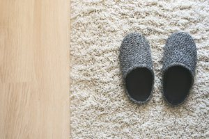 slippers on wool carpet how to wash clean