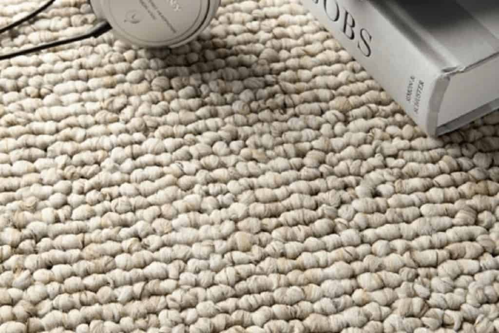 Close up of berber carpet