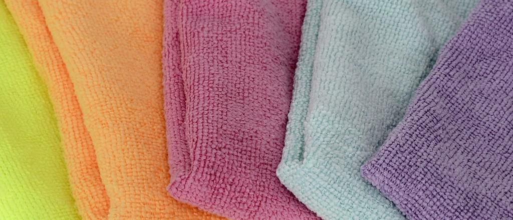 Microfiber cloth in different colors