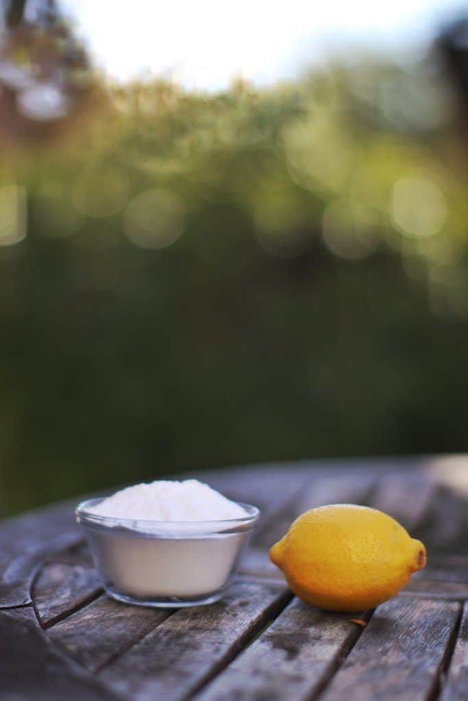 Baking soda mixed with lemon juice is a wonderful and good smelling cleaner