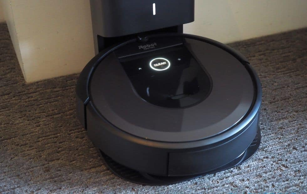 The roomba in it's charging port