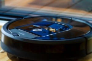 Close up of an iRobot vacuum