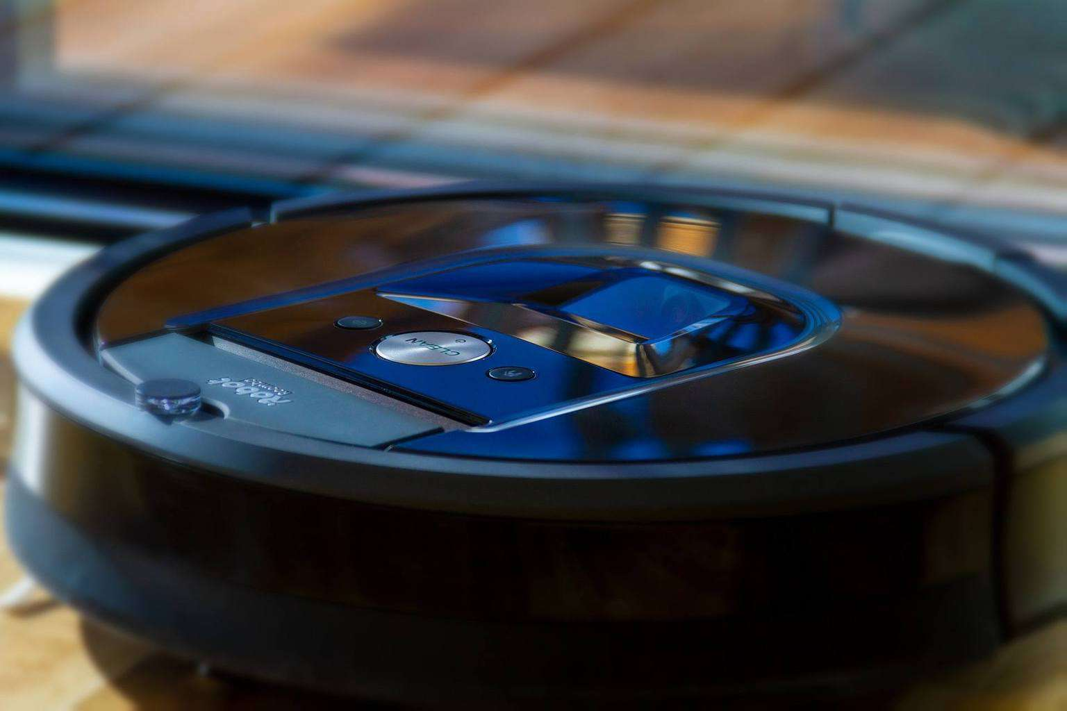 Close up of an iRobot vacuum
