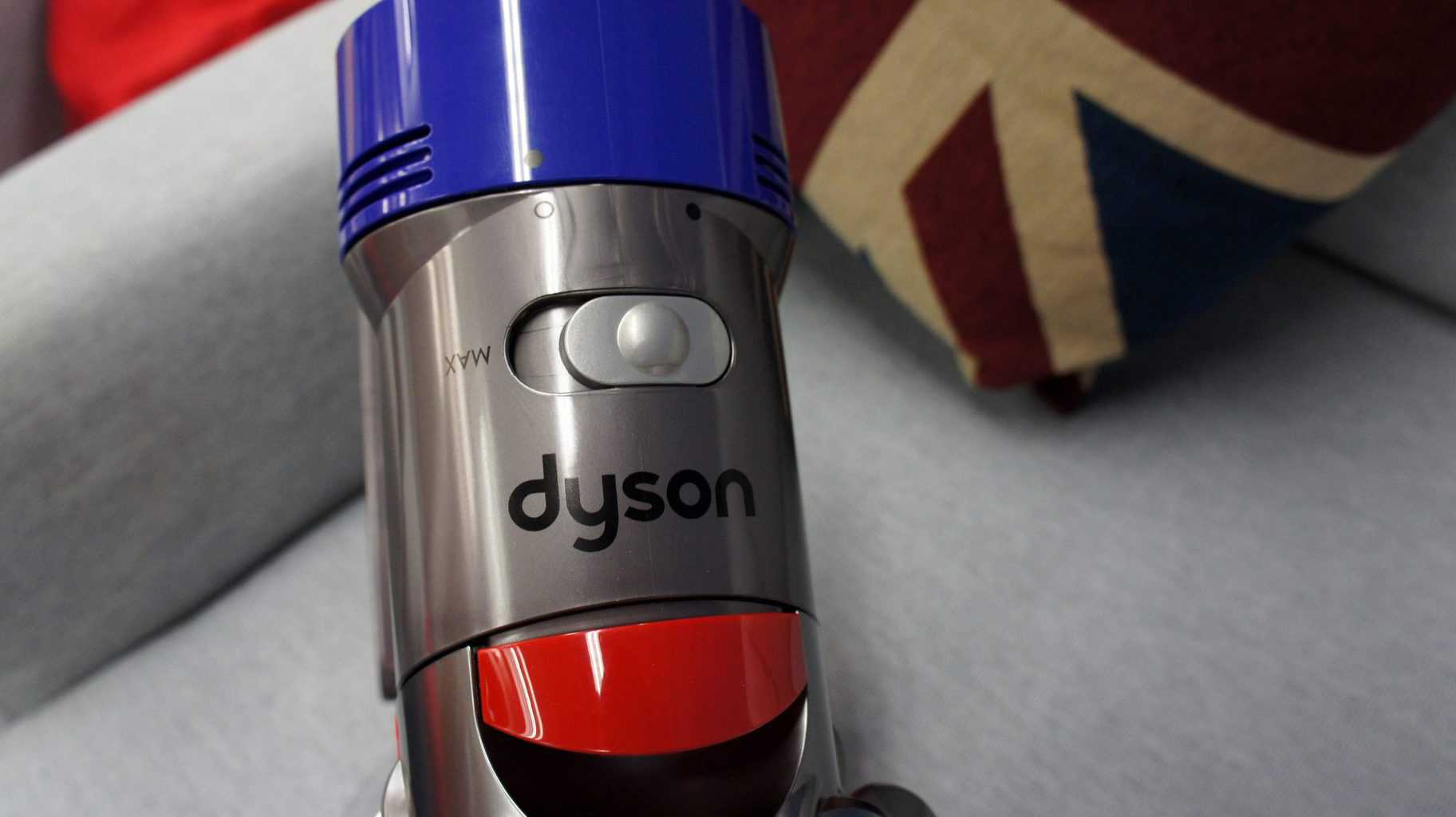 Close up of a dyson vacuum head