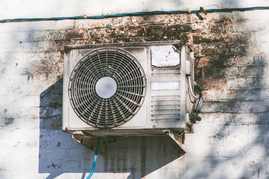 Air conditioner close up