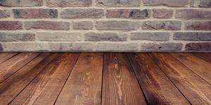 Black and brown hardwood flooring