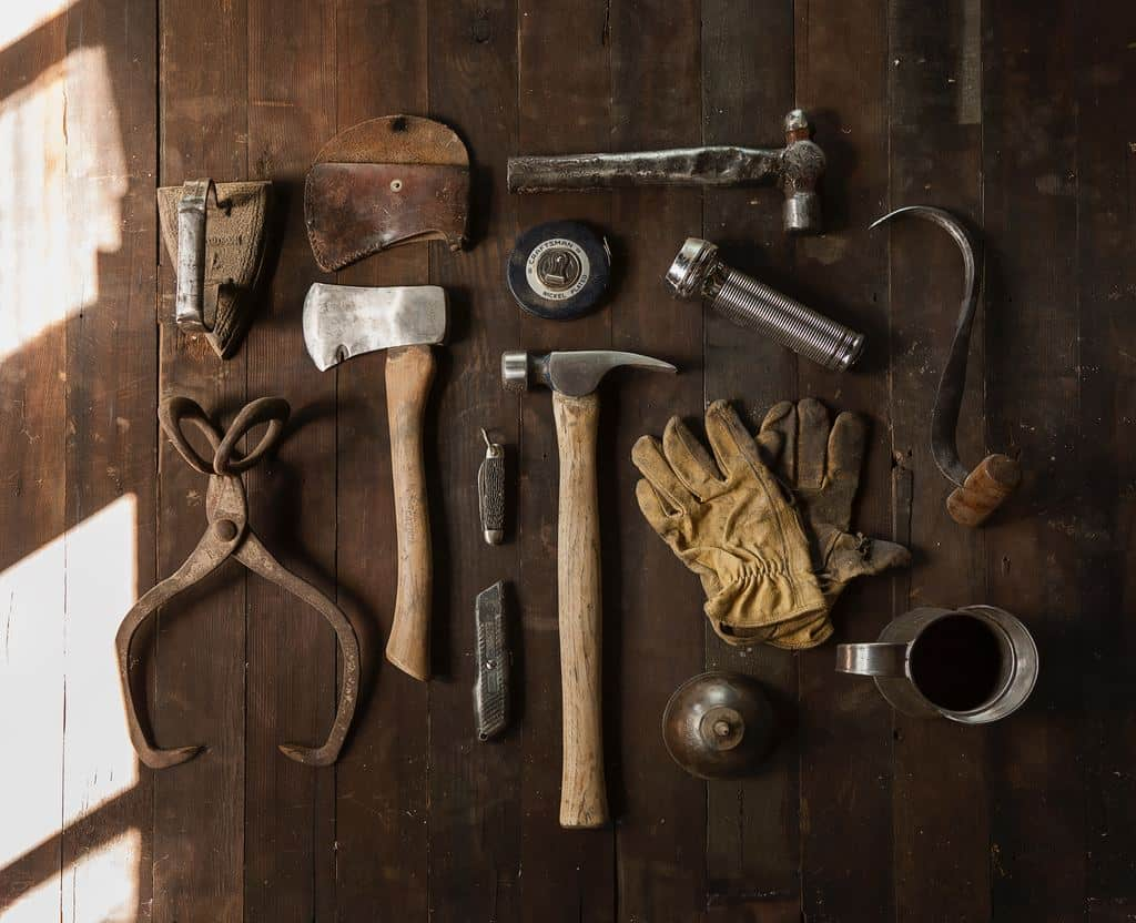 A collection of old tools