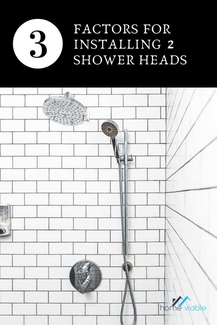 How To Add A Second Shower Head In Your Bathroom Homeviable