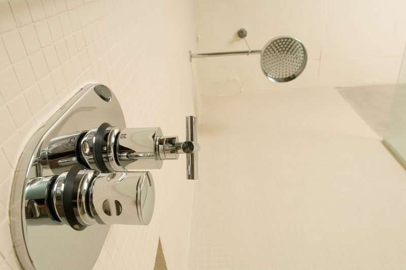 Low angle view of shower head