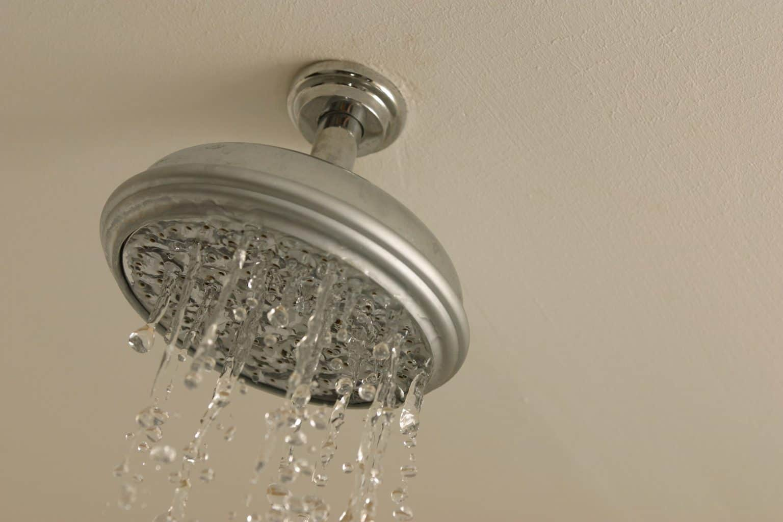 Water leaking from a shower head