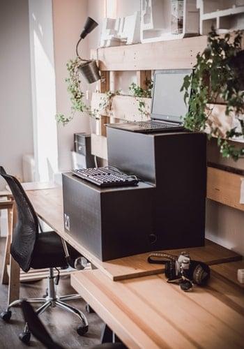 Standing desk set up
