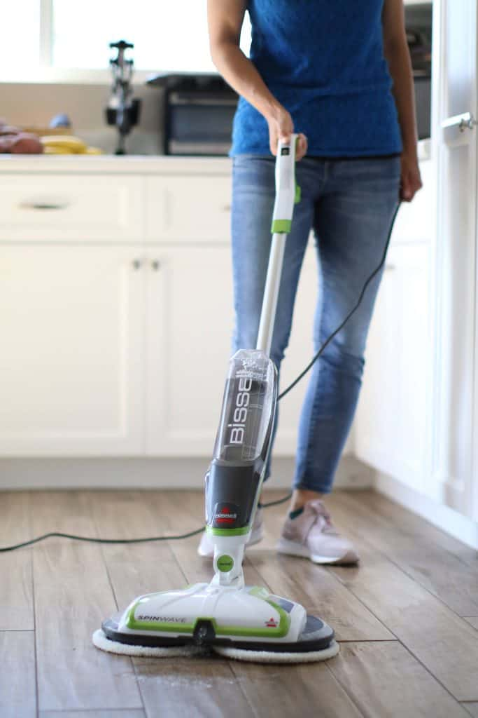 Person using a mop