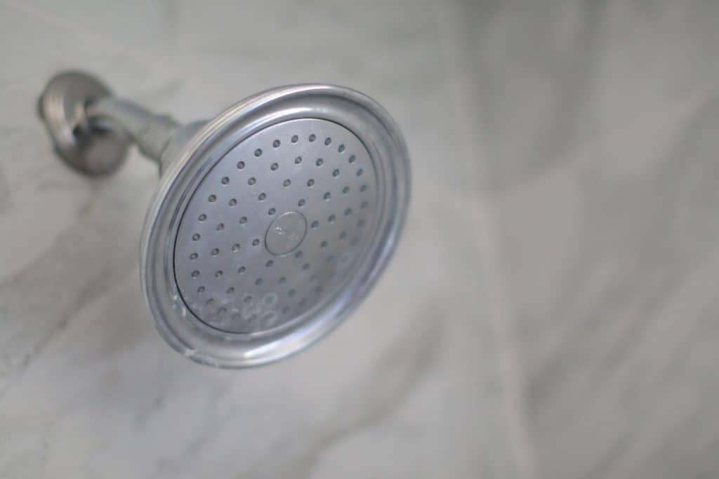 How to clean shower head rubber nozzles