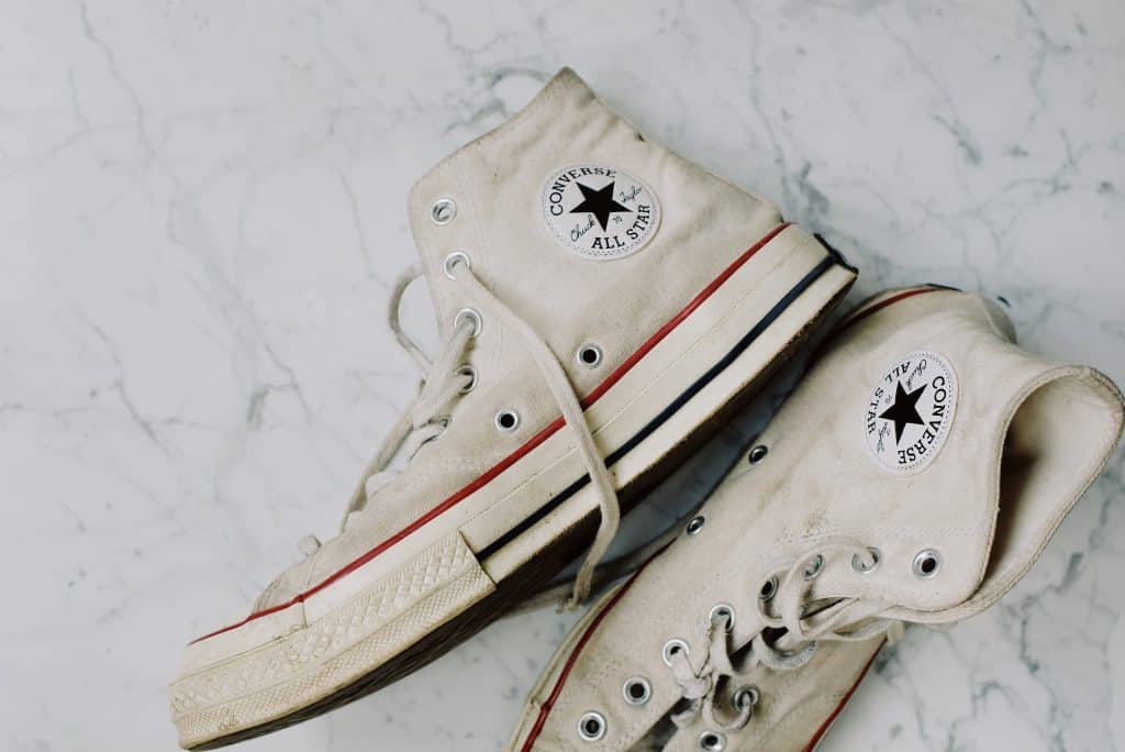 Used Converse shoes in need of a cleaning