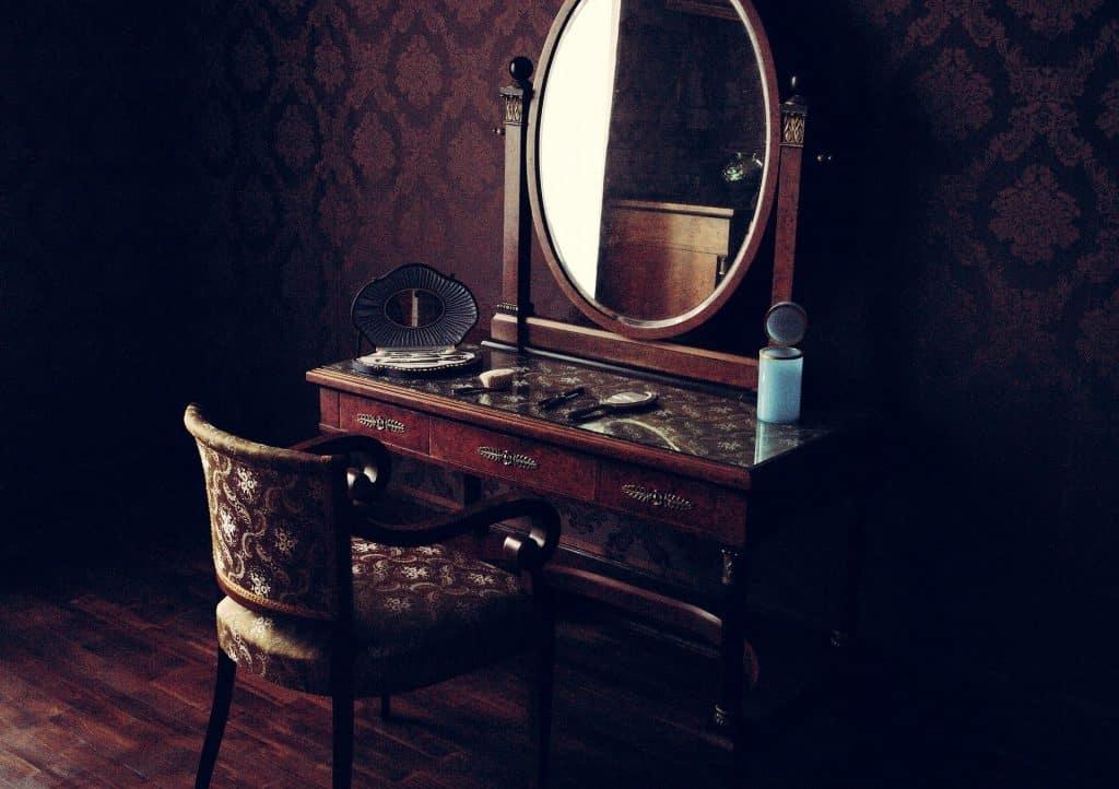 Clean vintage old mirror