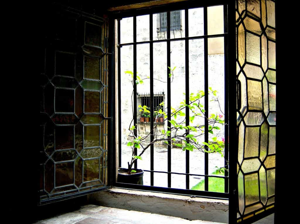 Windows with stained glass