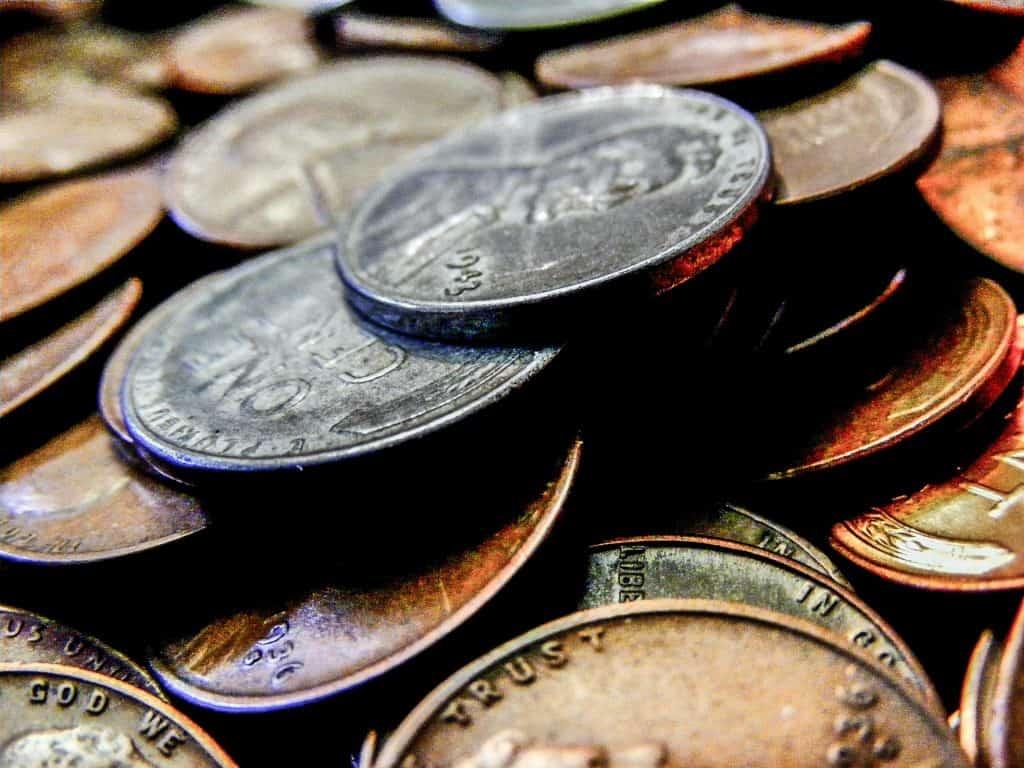Clean steel pennies