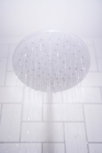 Water falling from a shower head