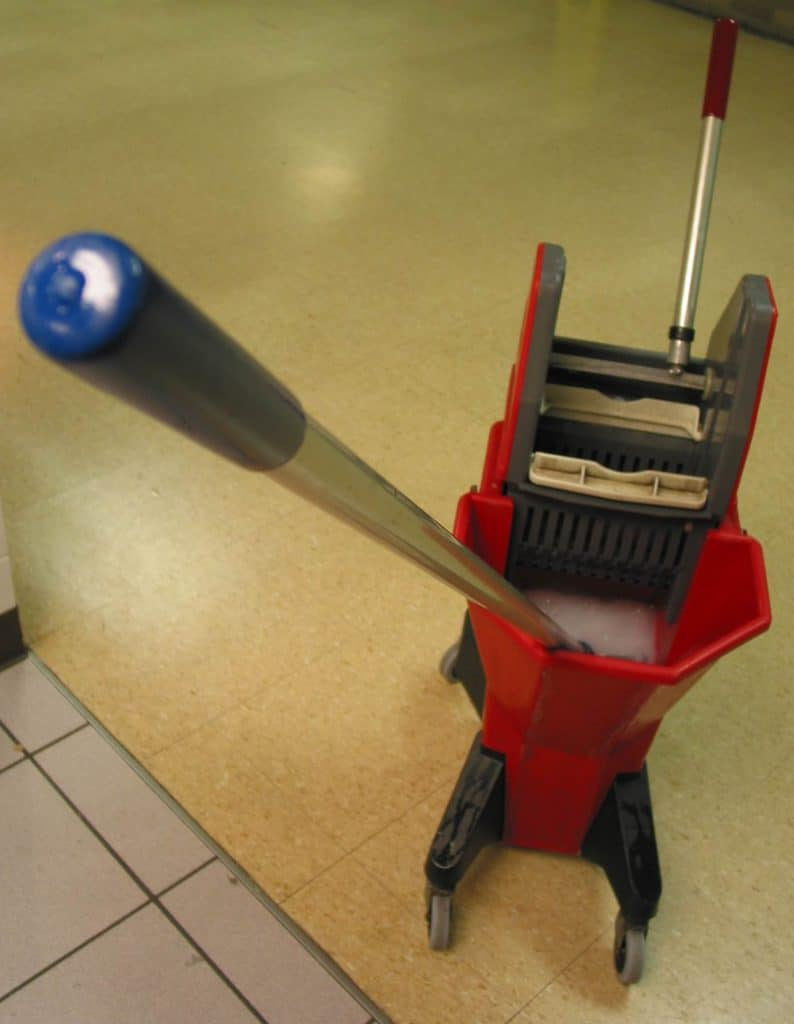 Mop with cleaning bucket