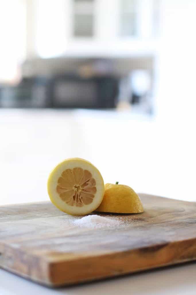Lemon cut in half