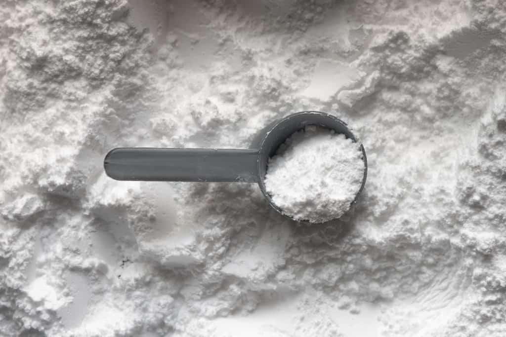 a scoop of baking soda