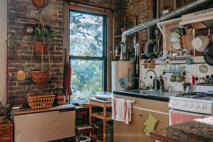 Double hung window style in the kitchen
