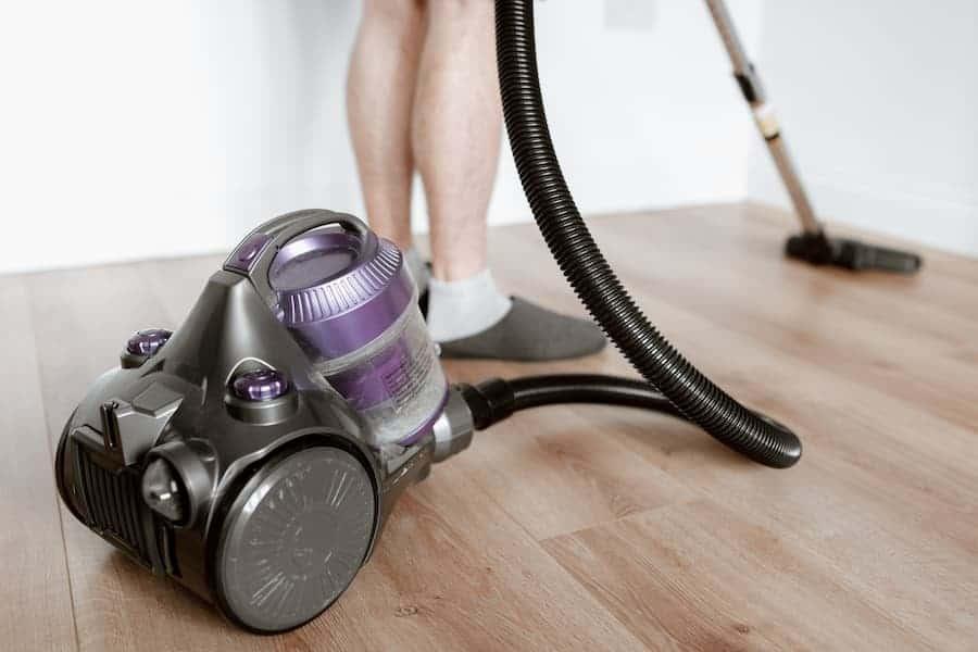 Close-Up shot of vacuum cleaner