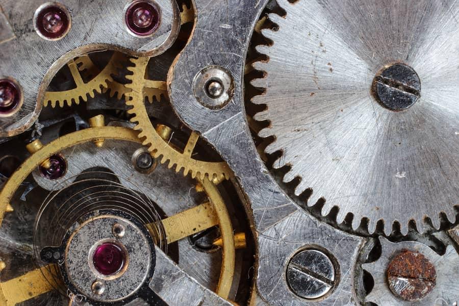 Nickel silver gear with screws