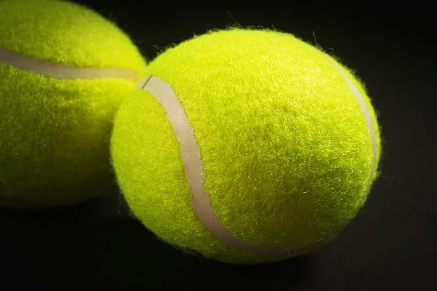 Close-Up shot of tennis ball